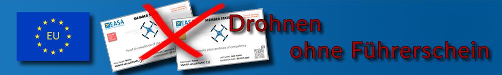 Drohnen ohne Führerschein