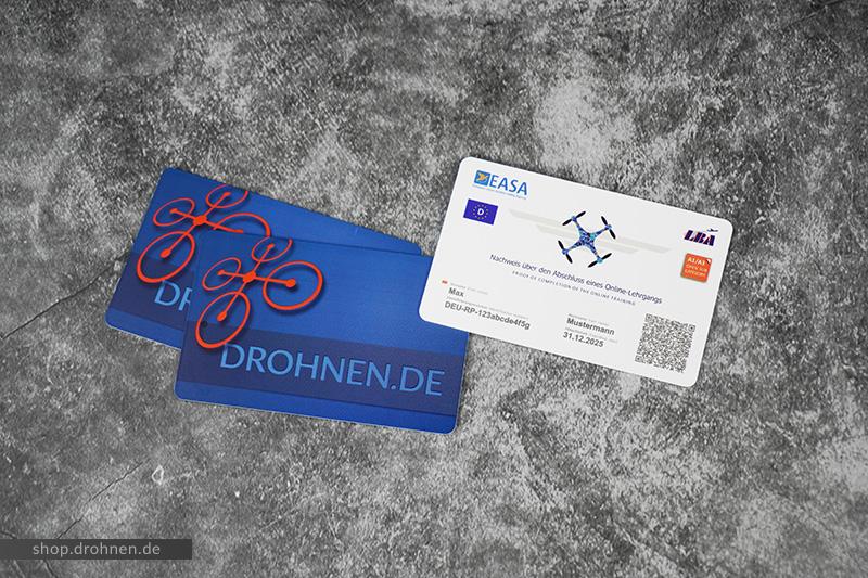 EU Drohnenführerschein EC Karte Visitenkarte Druck Premium Karte