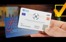 Eu Drohnenführerschein als Scheckkarte EC-Karte Plastik Karte drucken und kaufen