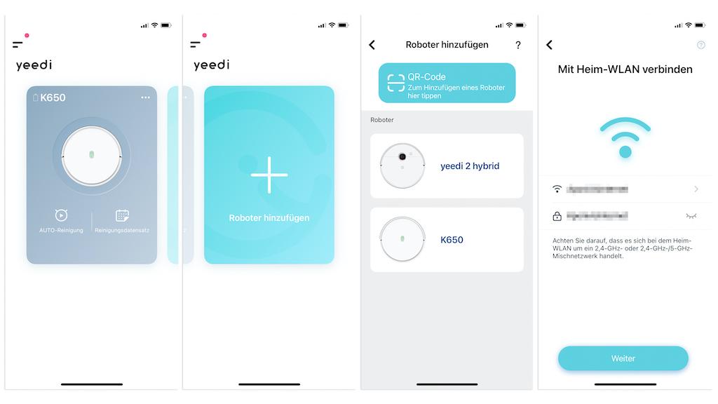 Yeedi 2 Hybrid in der App hinzufügen