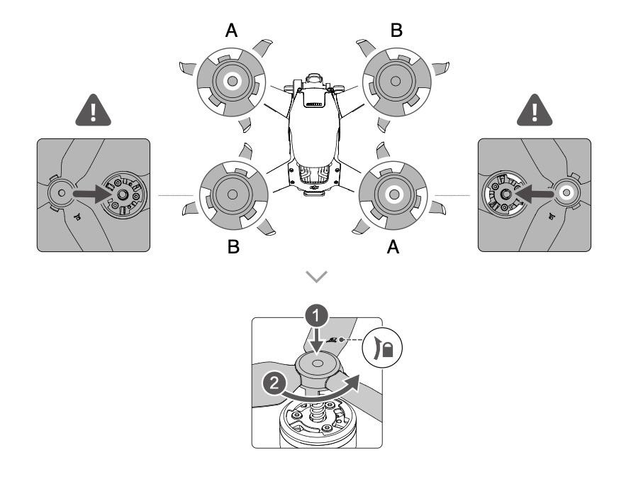 DJI FPV: Anleitung Propeller wechseln