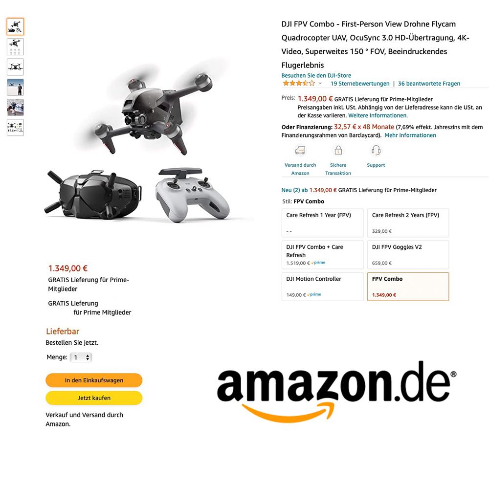 DJI FPV bei Amazon kaufen