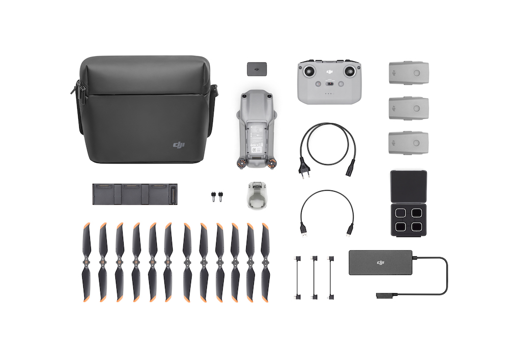 Lieferumfang der DJI Air 2S Fly More Combo