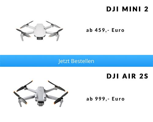 Preisunterschied DJI Mini 2 vs. DJI Air 2S