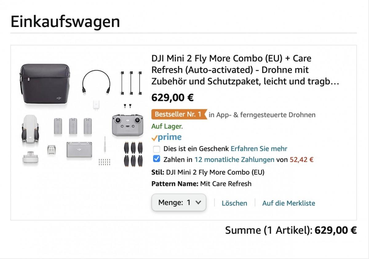 DJI Mini 2 mit Amazon finanzieren / in Raten zahlen