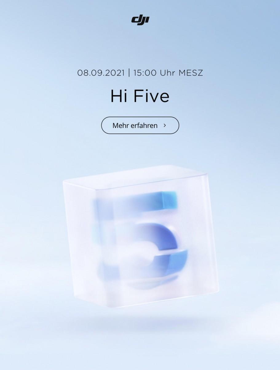 DJI Teaser: Hi Five (Hallo 5) für den 08.09.2021