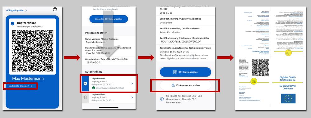 Anleitung CovPass App Download herunterladen Impfzertifikat