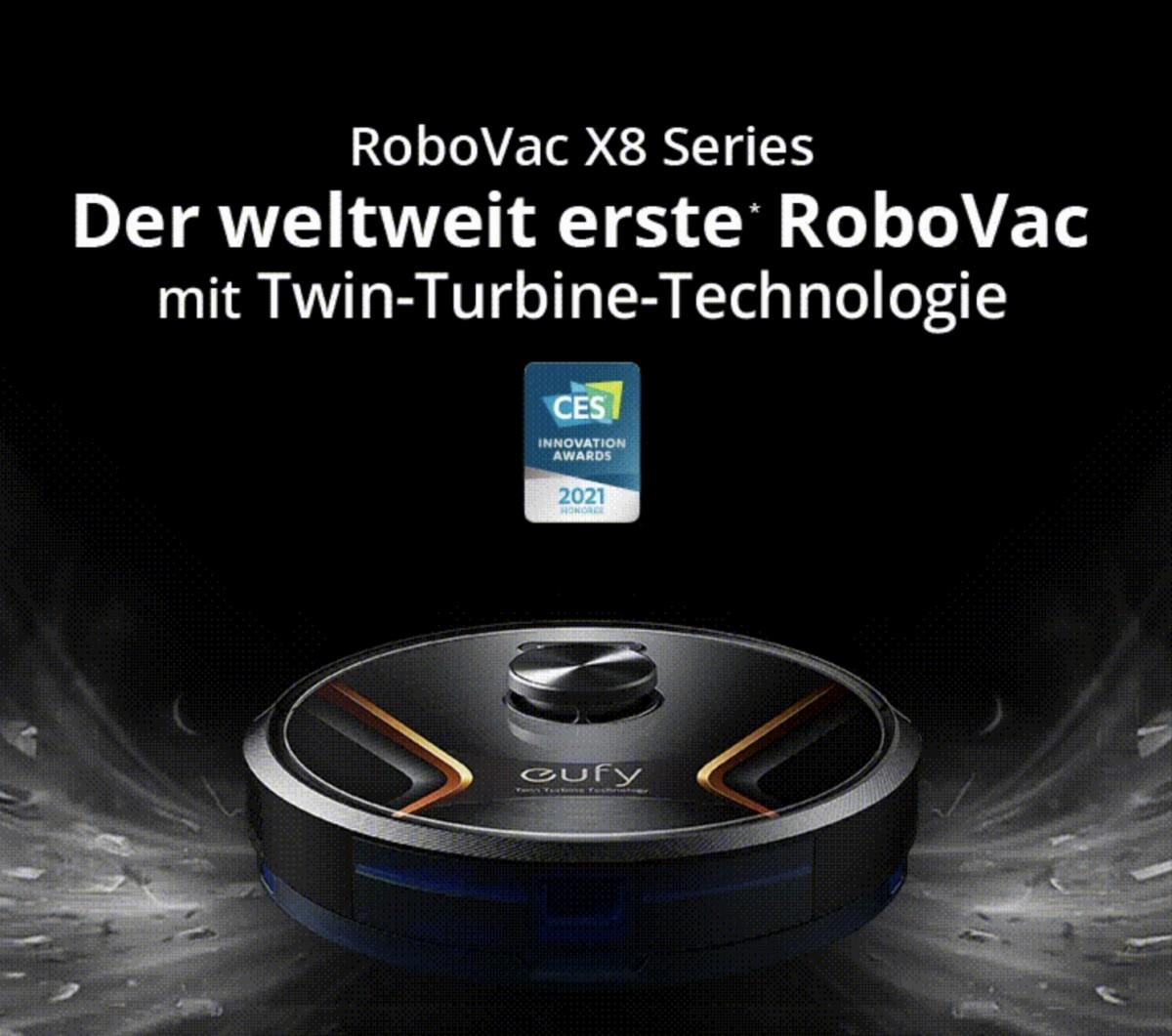 Eufy RoboVac X8 Hybrid: Saugroboter mit Doppel-Turbine vorgestellt