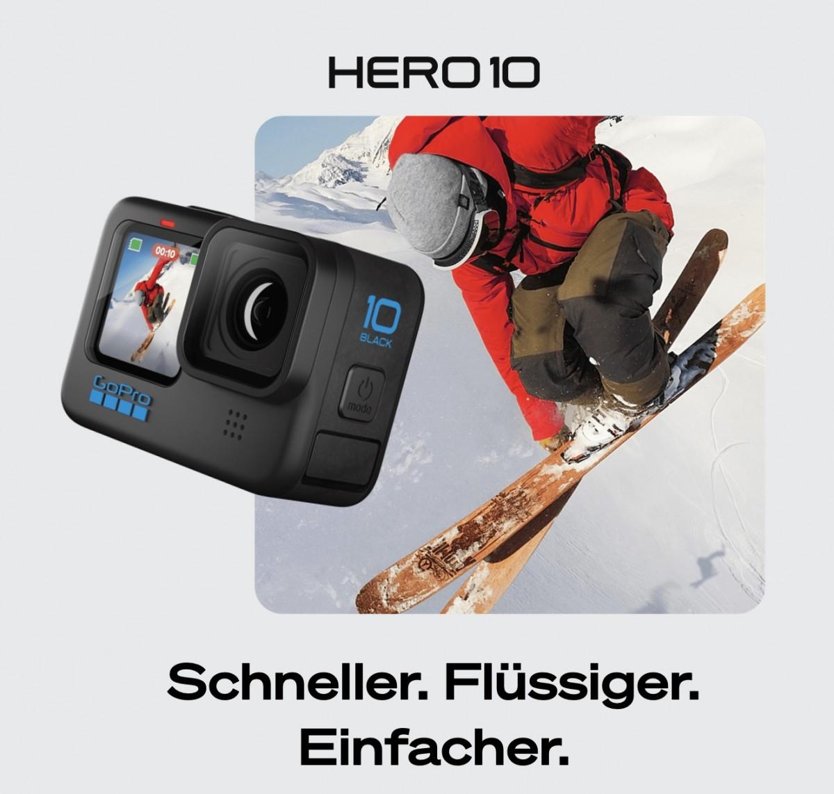 GoPro HERO 10 Schneller, flüssiger, einfacher