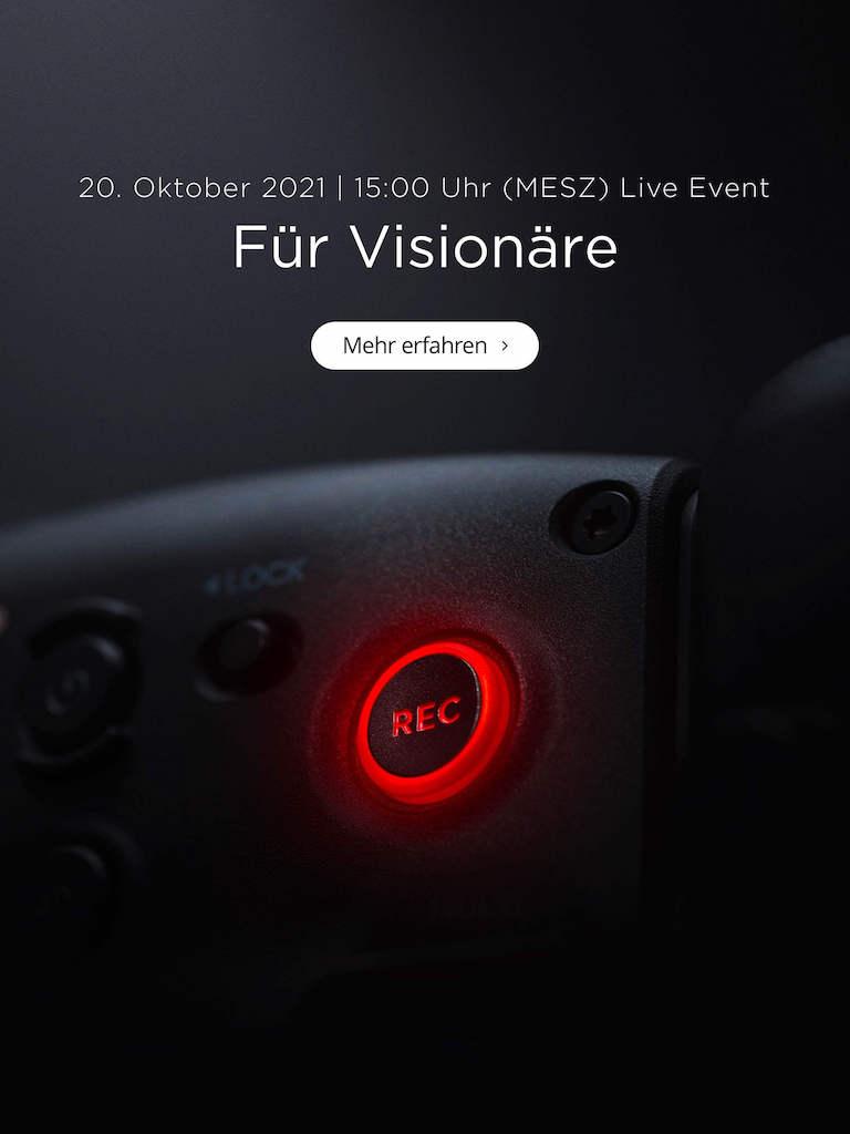 DJI Teaser: Für Visionäre (20.10.) um 15:00 Uhr